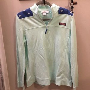 Vineyard Vines collared pullover teal and blue